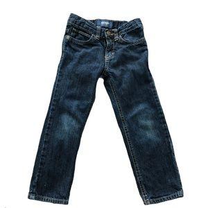 Old Navy Dark Blue Adjustable Jeans Snap Button 4T